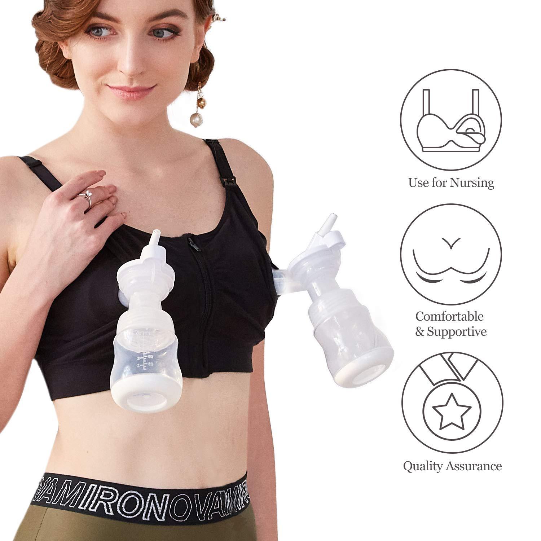 Hands Free Pumping Bra Philips Avent Lansinoh Momcozy Zipper Breast Pump Nursing Bra,Suitable for Breastfeeding-Pumps by Medela Medium Spectra