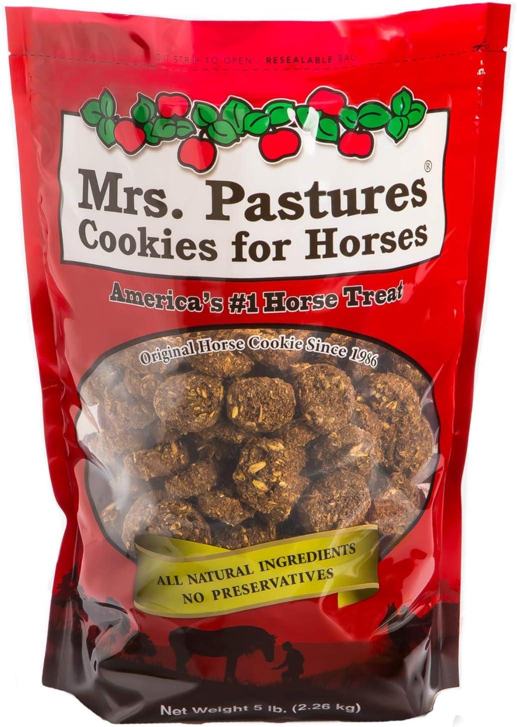 Mrs. Pastures Horse Cookies & Treats - Premium All Natural Treats (5 Pound Bag)