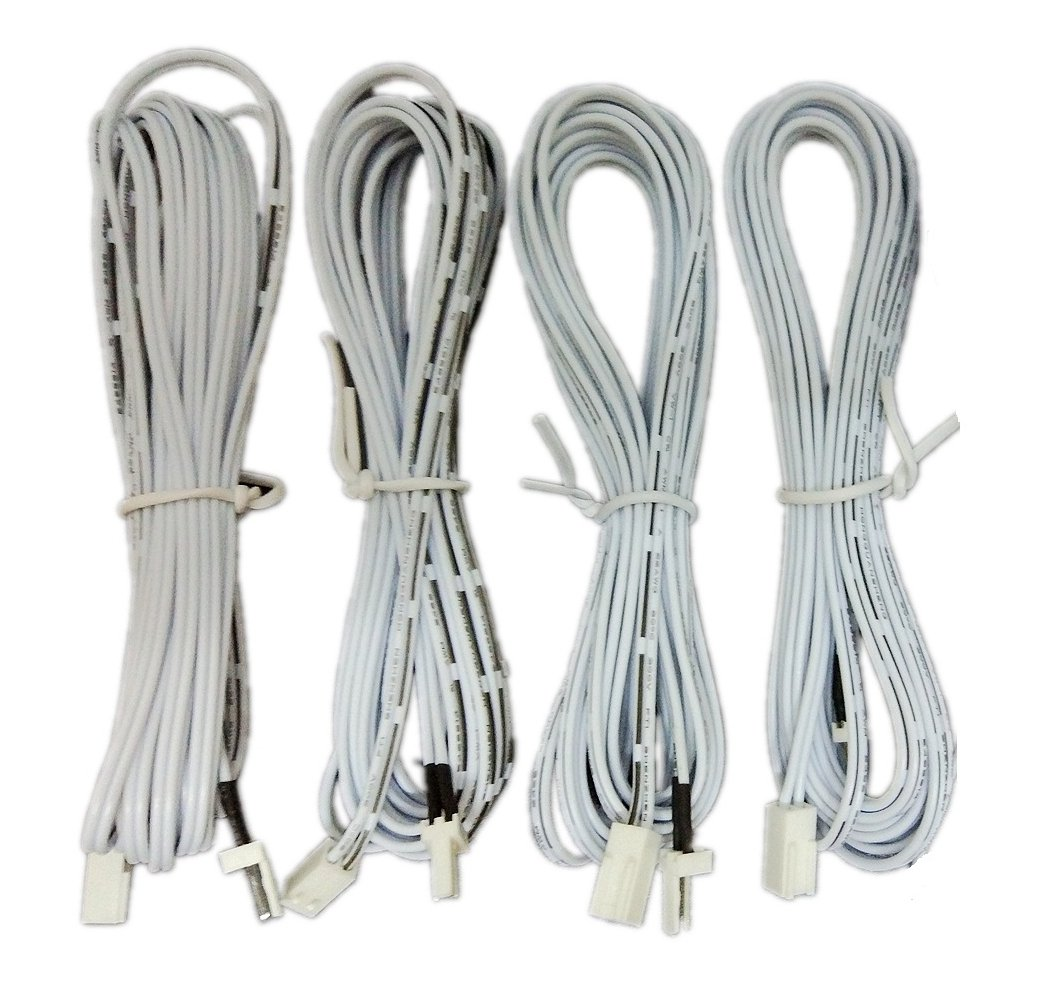 xking 4pcs 3m 9 8 ft 2 pin male and female cable plug connector rh amazon com LED Resistor Wiring Wiring LED Lights
