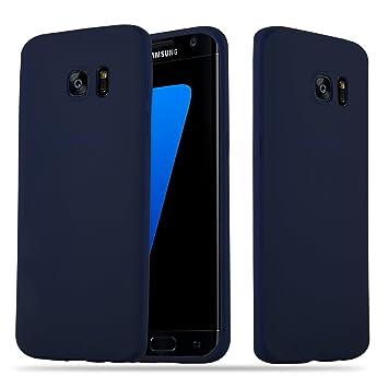 Cadorabo Funda para Samsung Galaxy S7 Edge en Candy Azul Oscuro – Cubierta Proteccíon de Silicona TPU Delgada e Flexible con Antichoque – Gel Case ...