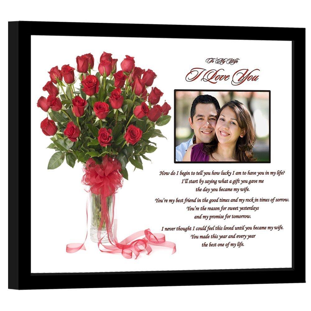 I Love You Wife Gift From Husband - Anniversary, Birthday - Add Photo