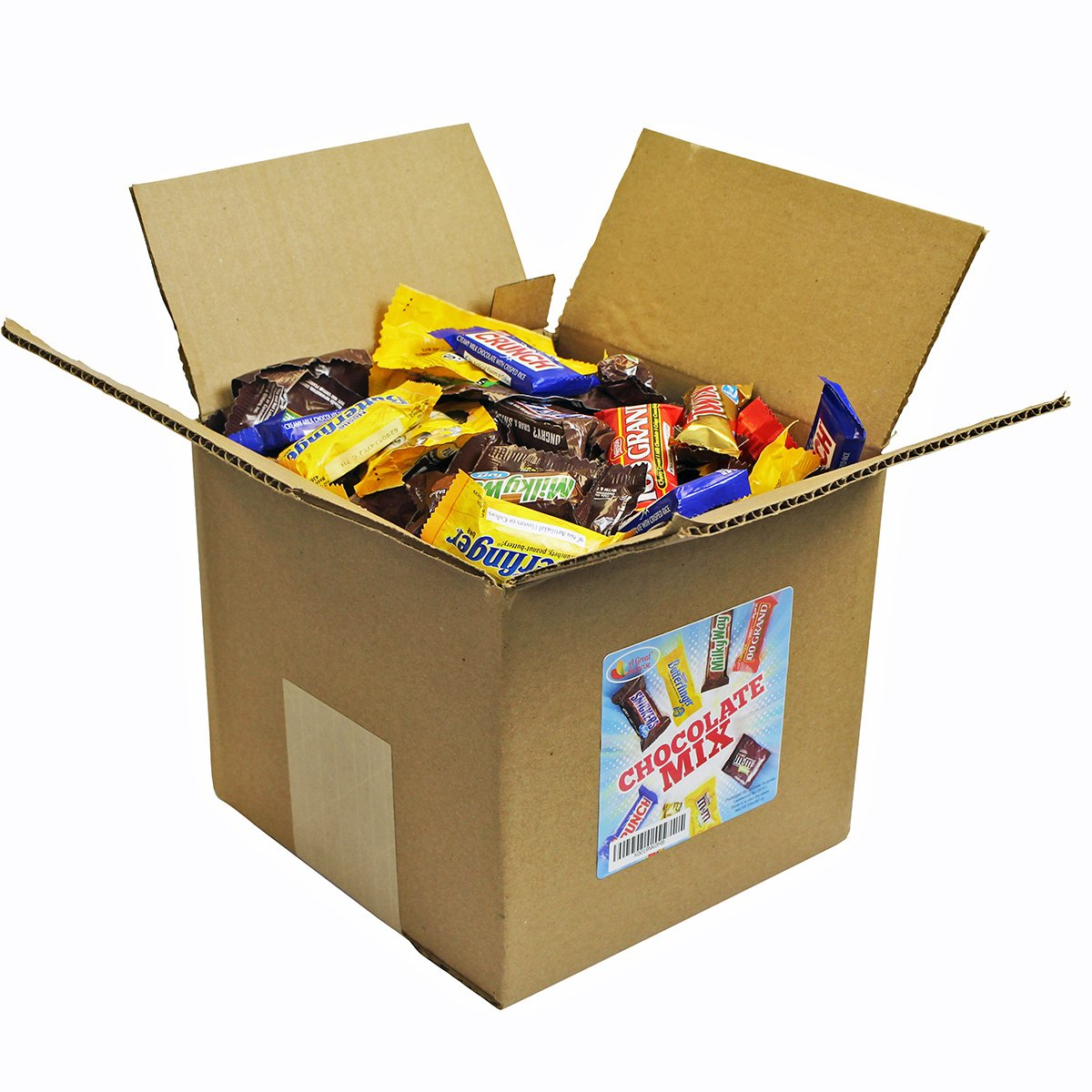 Chocolate Variety Pack - Fun Size Candy - All Your Favorite Chocolate Bars Including M&M, Snickers, Twix and More In 8x8x8 Bulk Box, 7.3 Lbs by A Great Surprise (Image #2)