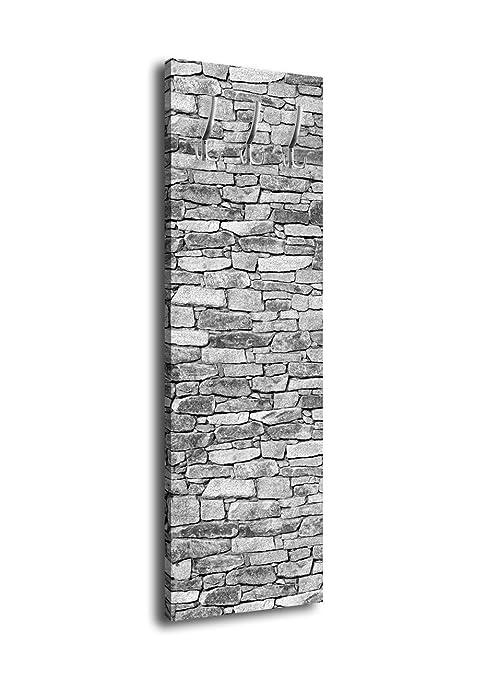 wandmotiv24 Perchero con diseño Natural Piedras Gris G359 40 x 125 cm – Perchero de Pared Muro Piedra Arenisca