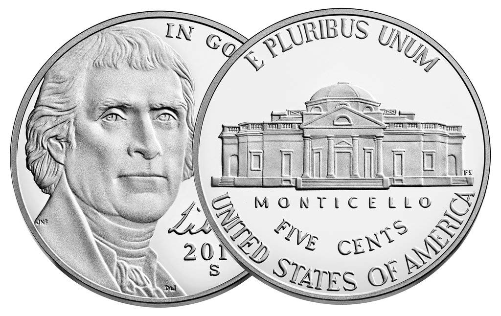 2019 Jefferson Nickel Proof Roll of 40
