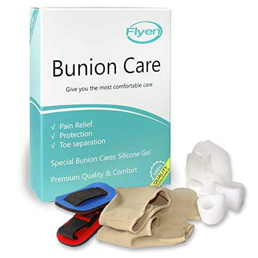Bunion Corrector & Bunion Relief Protector Sleeves Kit - Treat Pain in  Hallux Valgus, Big Toe Joint,