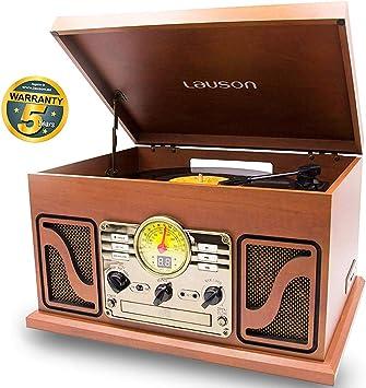 Lauson Tocadiscos Diseño Vintage Coche de Colección con 2 ...