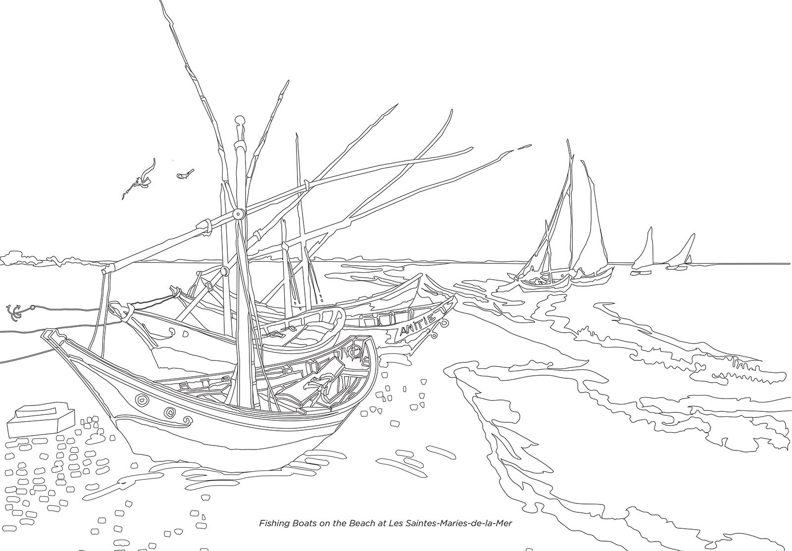 Color Your Own Van Gogh Museum Amsterdam 9780062436429 Amazon Books