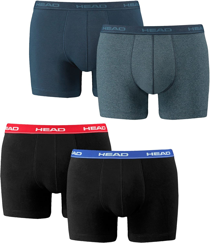 HEAD Herren Boxer Boxershort Unterhose 4er Pack Black 200