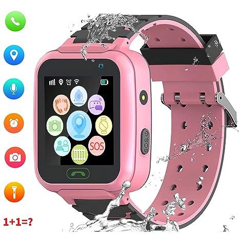 Rastreador de GPS para niños Smart Watch a Prueba de Agua para niños Smartwatches IP67 A