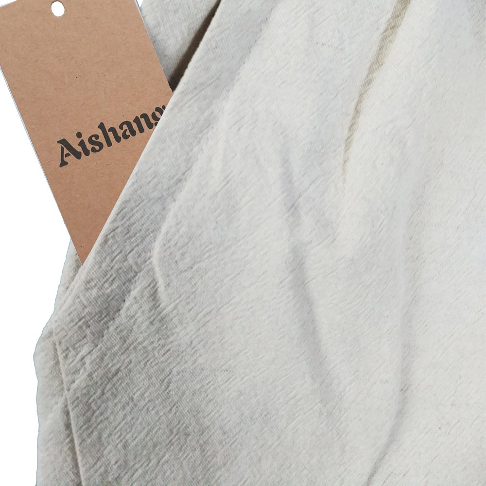 Aishang Men's Patchwork Shorts Elastic Waist Linen Loose Pocket Capris Joggers Harem Pants by Aishang (Image #6)
