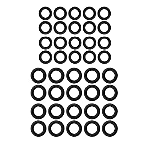 """40 Pack Power Pressure Washer O-Rings for 1/4"""", 3/8"""", M22 Quick Connect Coupler, Each 20 Pieces"""