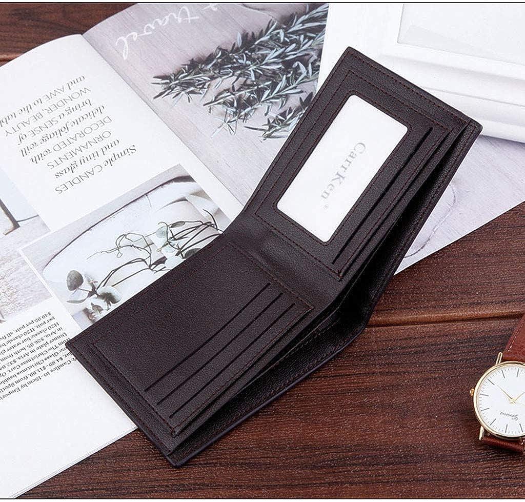 48c7879fec54 Wallet For Men,PAQOZ Multi-function Retro Short Wallet Simple Fine ...