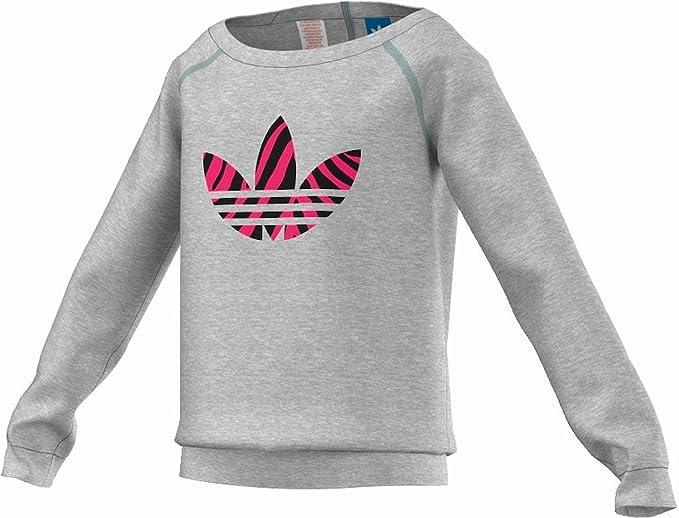 J Z CREW-Forro GRI Adidas-Sudadera para niña gris : Amazon.es: Ropa y accesorios