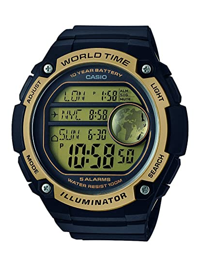 Casio Reloj Digital para Hombre de Cuarzo con Correa en Resina AE-3000W-9AVEF: Amazon.es: Relojes