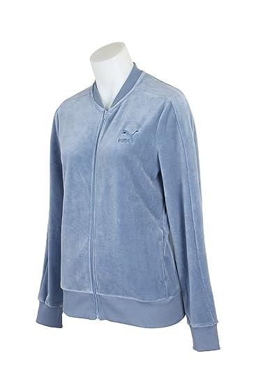 060613c9baf41 Amazon.com: PUMA Women's Velour T7 Jacket Tempest Outerwear: PUMA ...