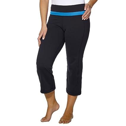 3b13854b0cb39a Kirkland Signature KS Womens Yoga Capri Pants, Moisture Wicking Active Workout  Pants, Lily, Small at Amazon Women's Clothing store: