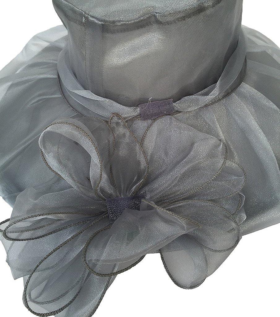 Capeline Femme Et/é Chapeau Large Bord Soleil Plage Pliable N/œud de Papillon Mode