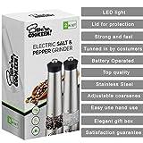 Electric Salt and Pepper Grinder Set | Battery