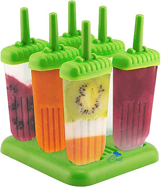 Amazon.com: Popsicle Ice Mold Maker Set - 6 Pack BPA Free Reusable Ice  Cream DIY Pop Molds Holders With Tray & Sticks Popsicles Maker Fun for Kids  and Adults Great Gift for