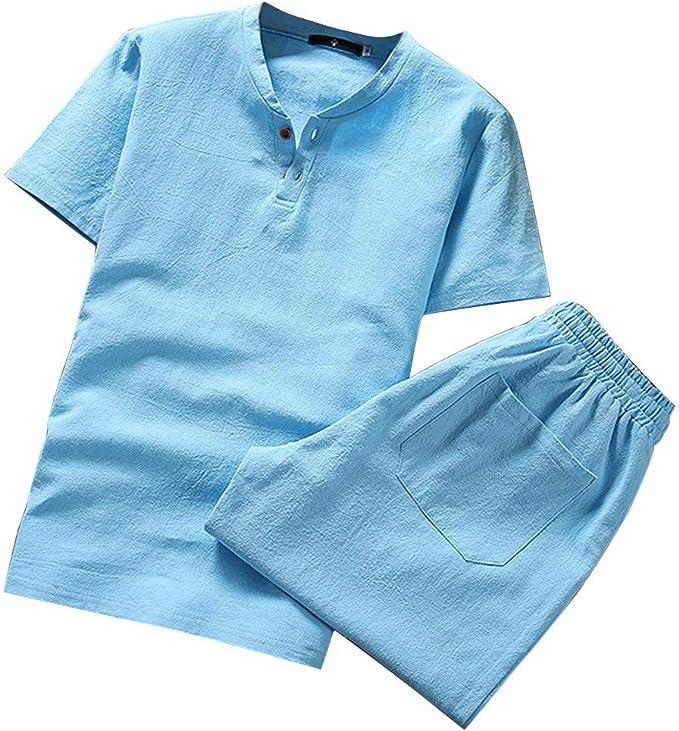 Holataa Chandal Hombre Verano Camiseta Manga Corta + Pantalones ...