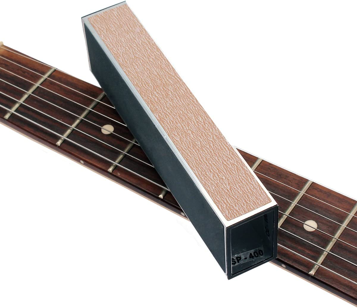 ultnice chitarra Bass Fret Leveling file Schleifen Luthier Tool con carta vetrata