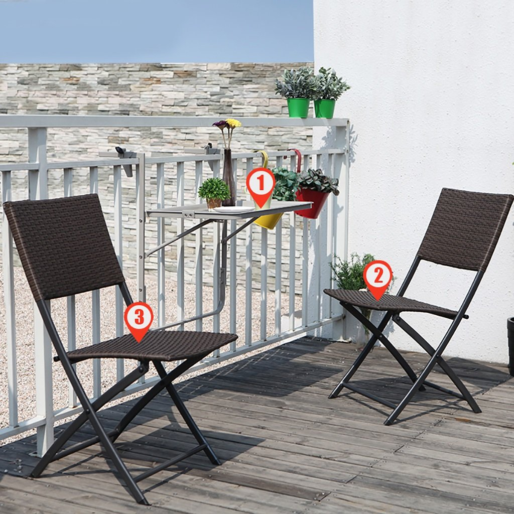 Gartenmöbel Sets Einfache Mode Klappstuhl Balkon Outdoor Tische