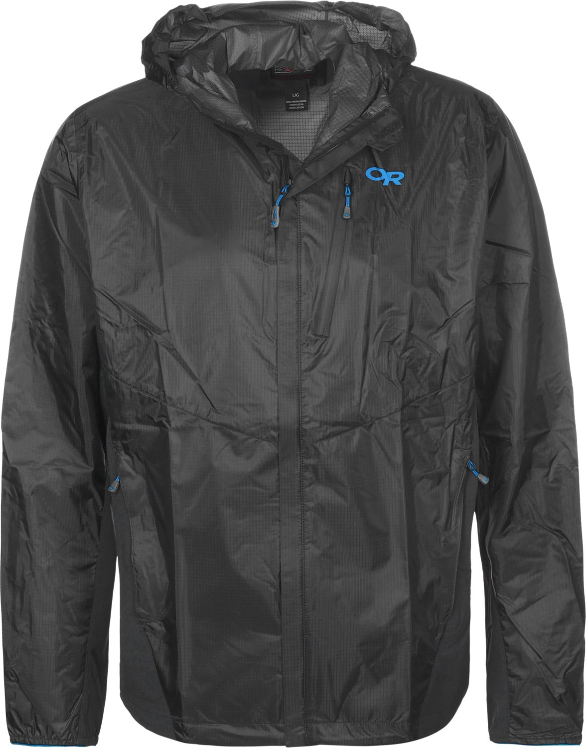 Outdoor Research Helium Hybrid Hooded Jacket - Men's Black XL by Outdoor Research