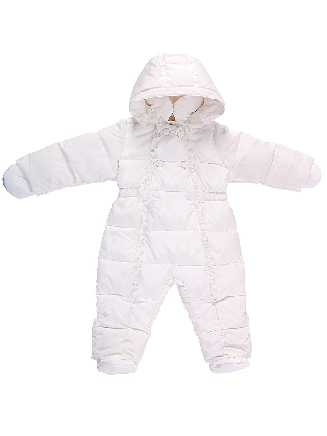 Oceankids Winter Baby Girl's One-Piece Detachable Hood Duck Down Snowsuit OC14021023WT-6M