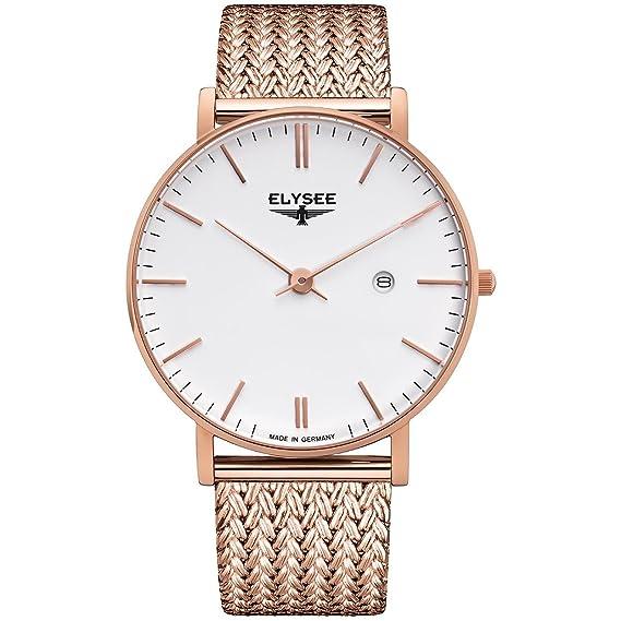 ELYSEE ZELOS RELOJ DE HOMBRE CUARZO 40MM ANALÓGICO DIAL BLANCO 98004M: Amazon.es: Relojes