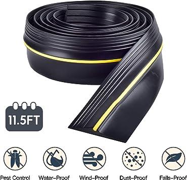 Rubber Weatherproof DIY Stripping Replacement Seal Strip Not Include Sealant Adhesive 20Ft, Black WHDZ Universal Garage Door Bottom Threshold Seal Strip