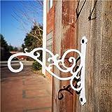 Sunshine Iron Metal Hanging Planter Bracket, 2 Pack Wall Hooks for Hanging Birds Feeders, Latern, Wind Chimes, Coat, Decorati