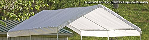 ShelterLogic MaxAP Canopy Replacement Cover, White, 10 x 20 ft.