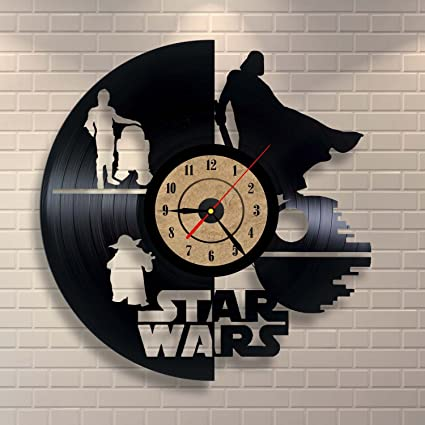 Vinyl Record Clock Star Wars Wall Decor Gift