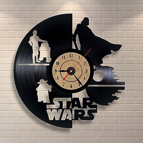 Disco De Vinilo Del Reloj Star Wars Regalo Decoración De La