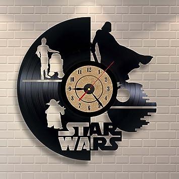 Amazon.com: Vinyl Record Clock Star Wars Wall Decor Gift: Home ...