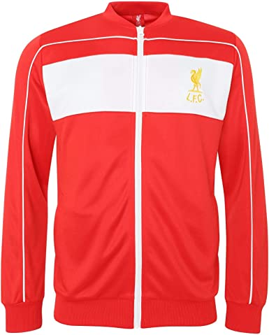 Liverpool FC Chaqueta de Chandal LFC Adultos Retro 1982 Crown ...