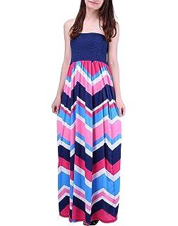 563b27bd1c8 HDE Women s Strapless Maxi Dress Plus Size Tube Top Long Skirt Sundress  Cover Up