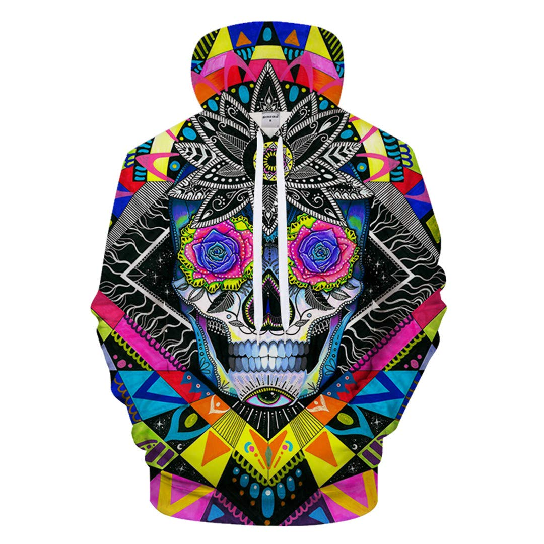 Suger Skull by Cold Arts 3D Print Hoodies Anime Sweatshirt Tracksuit Pocket Pullover