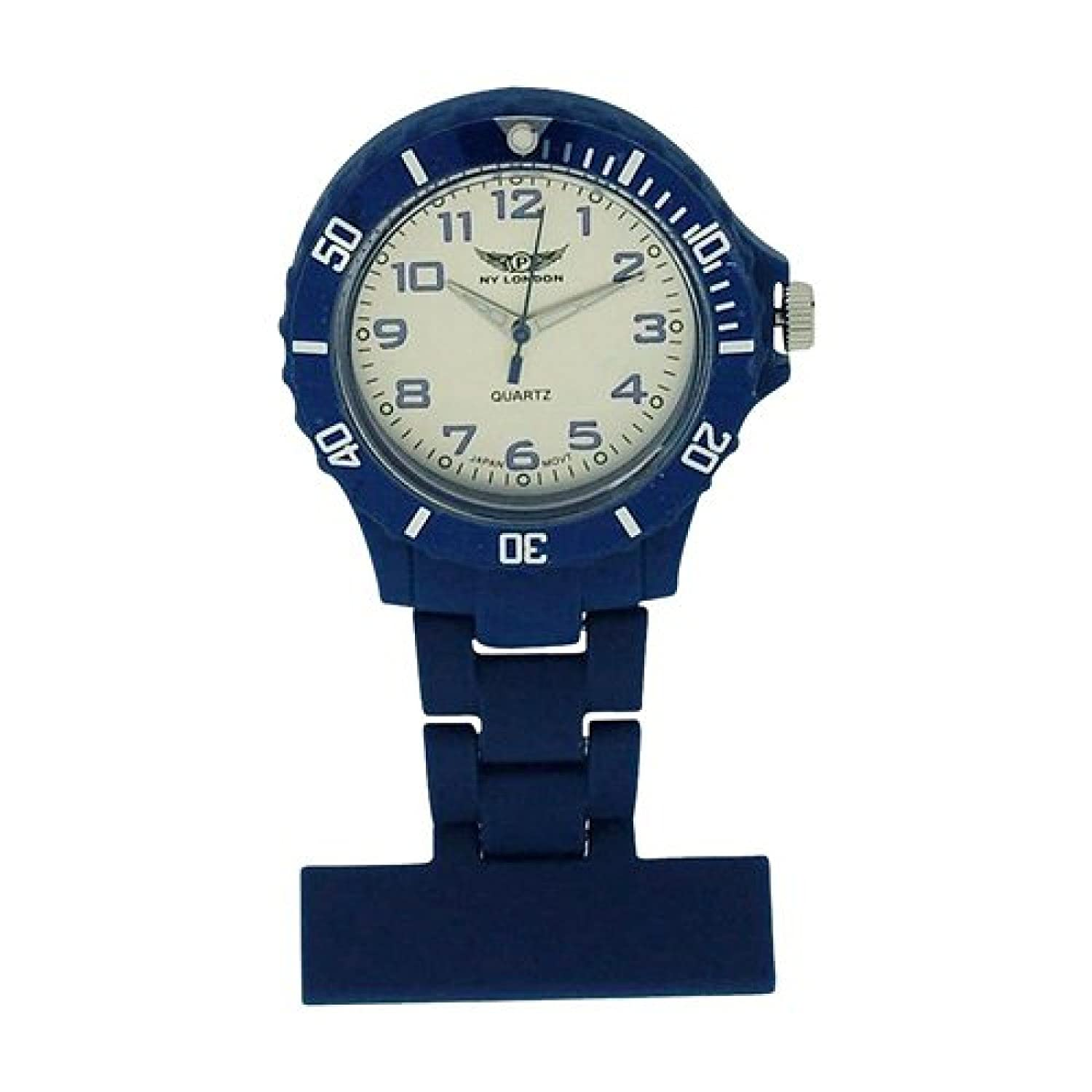Prince London NY New York Rubberised Plastic Nurses Fob Watch With Pin