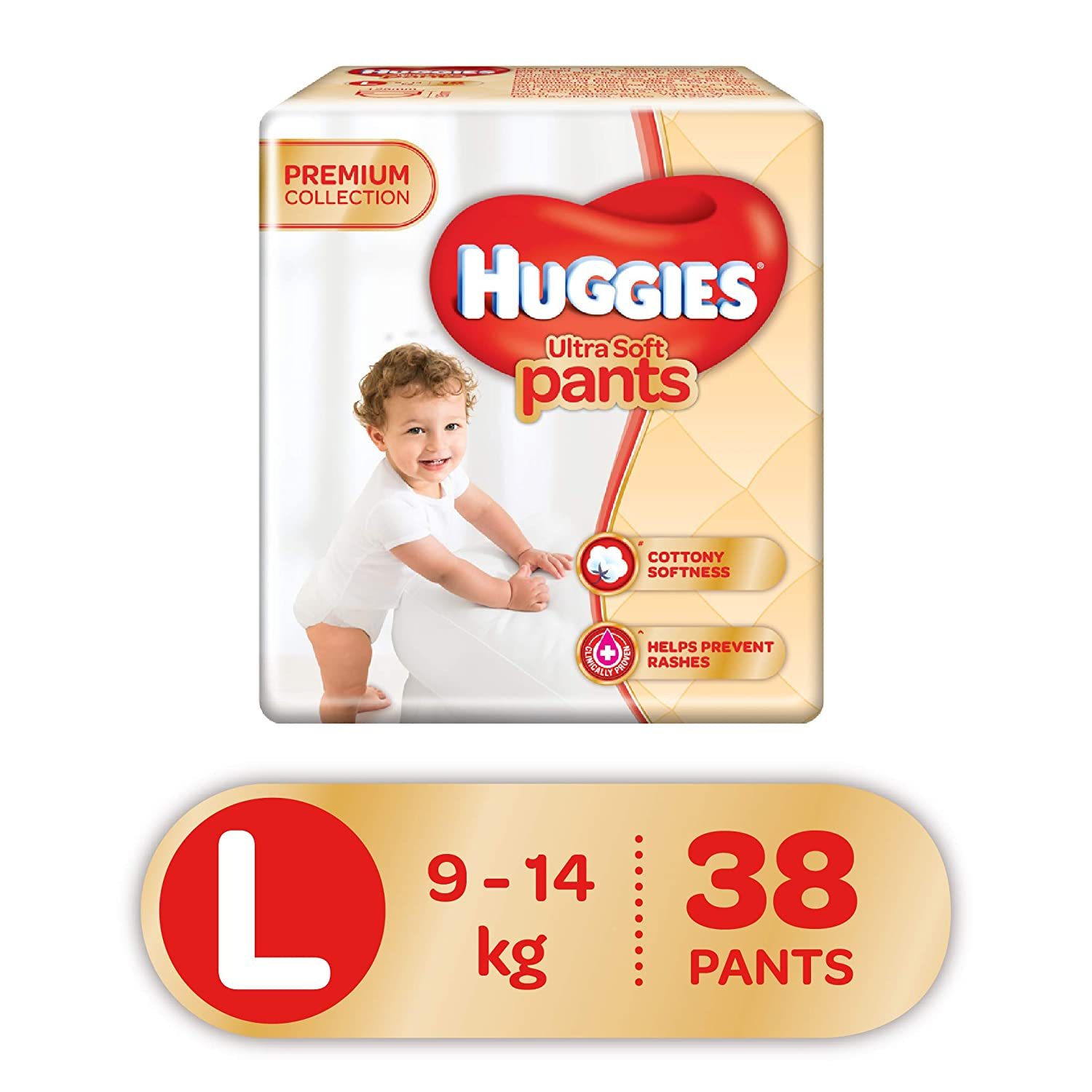 Huggies Ultra Soft Pants Diapers, Large (Pack Of 38)