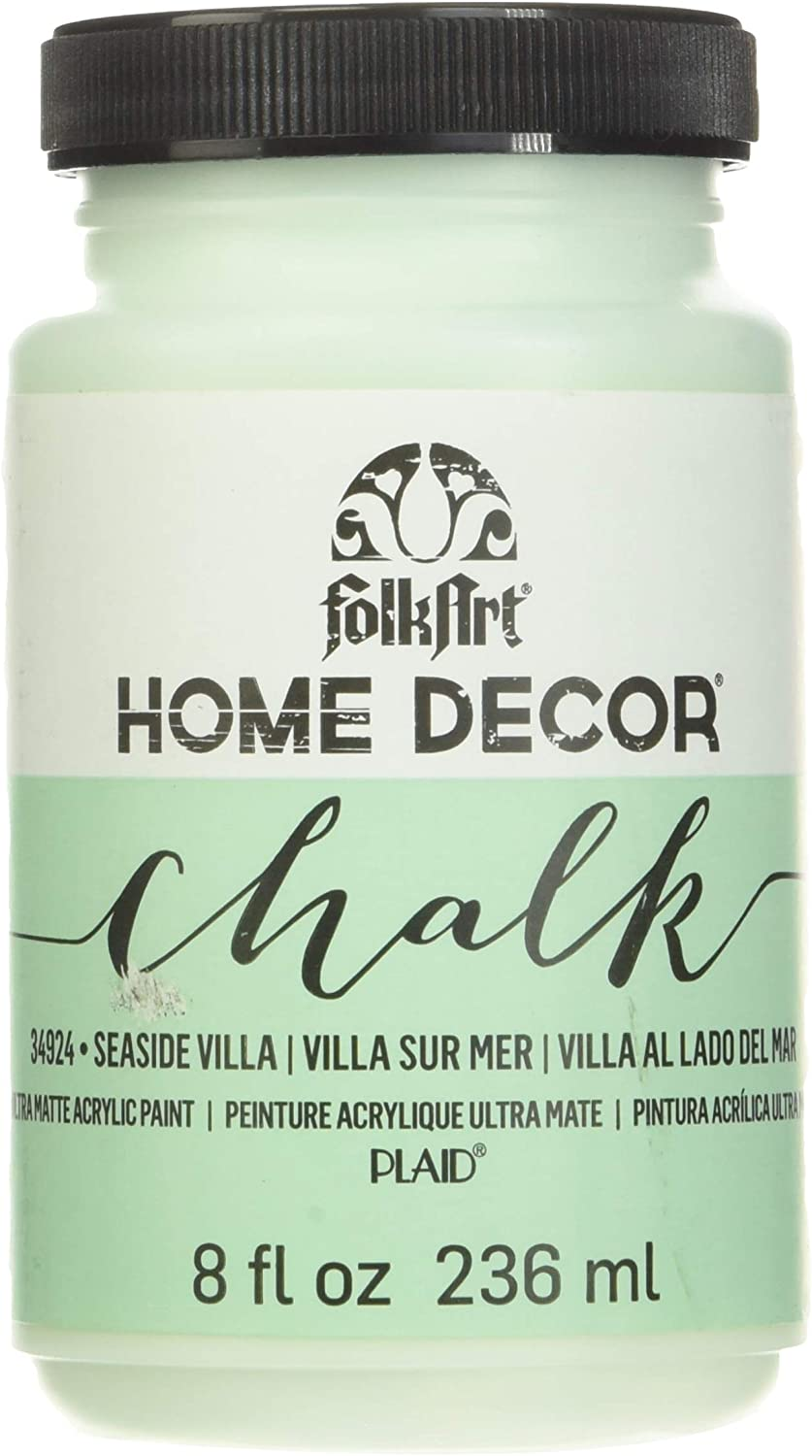 Amazon Com Folkart 34924 Home Decor Chalk Furniture Craft Paint In Assorted Colors 8 Ounce Seaside Villa