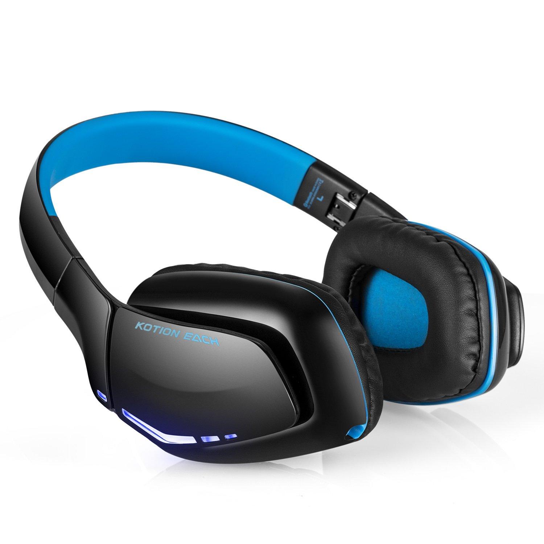 KOTION EACH B3506 Bluetooth Auriculares Auriculares inalámbricos Plegable Auricular de juegos V4.1 con micrófono para PS4 PC Mac Smartphones Computadoras: ...