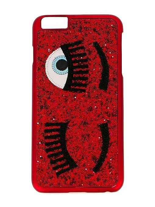 more photos 75971 c7542 CHIARA FERRAGNI cover iphone 6 red glitter cfcip6001