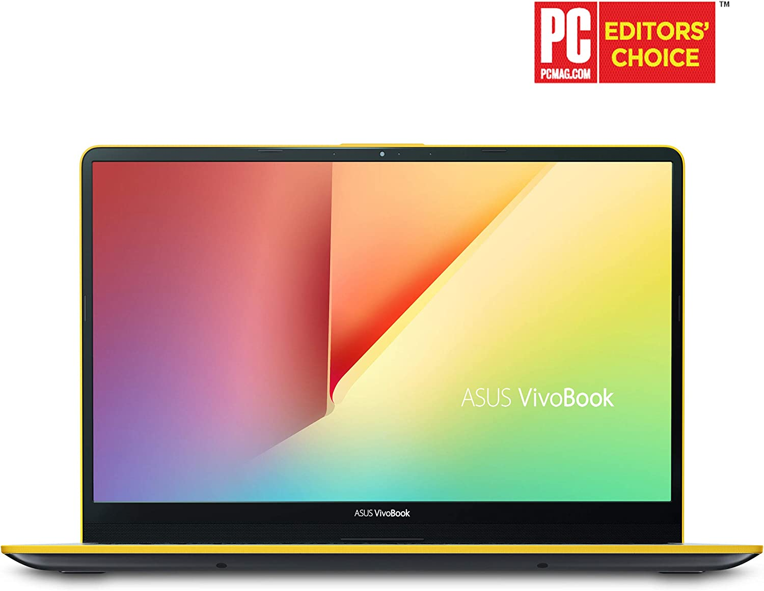 "Asus Vivobook S15 Slim and Portable Laptop, 15.6"" Full HD NanoEdge Bezel, Intel Core I5-8265U Processor, 8GB DDR4, 256GB SSD, Windows 10 - S530FA-DB51-YL, Silver Blue with Yellow Trim"
