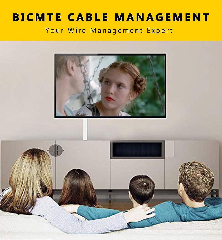 Kabelkan/äle Selbstklebend PVC Kabelabdeckung TV Wand Kabel Organizer Verstecken Kabelh/ülle Wei/ß