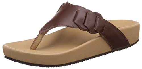 b6b6277e9815 Klas   Sylph Women s Millie Brown Orthopedic Arch Support Sandal - 8  UK India (