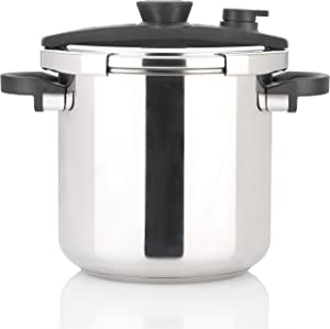Zavor EZLock 12.7 Quart Dual-Setting Pressure Cooker & Canner with Universal Locking Mechanism and Accessories - Polished Stainless Steel (ZCWEZ22)