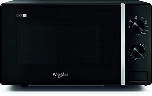 Image of Whirlpool MWP 103 B - Horno microondas Cook 20 + Grill, 20 litros, negro, con rejilla alta, 700 W