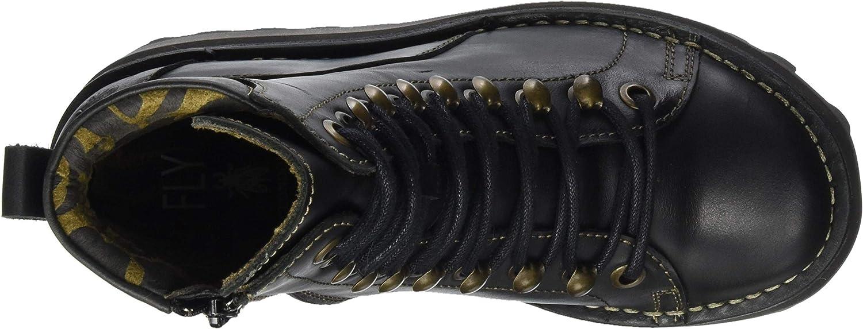 Fly London Haku019fly, Rangers Boots Femme Noir Noir 000