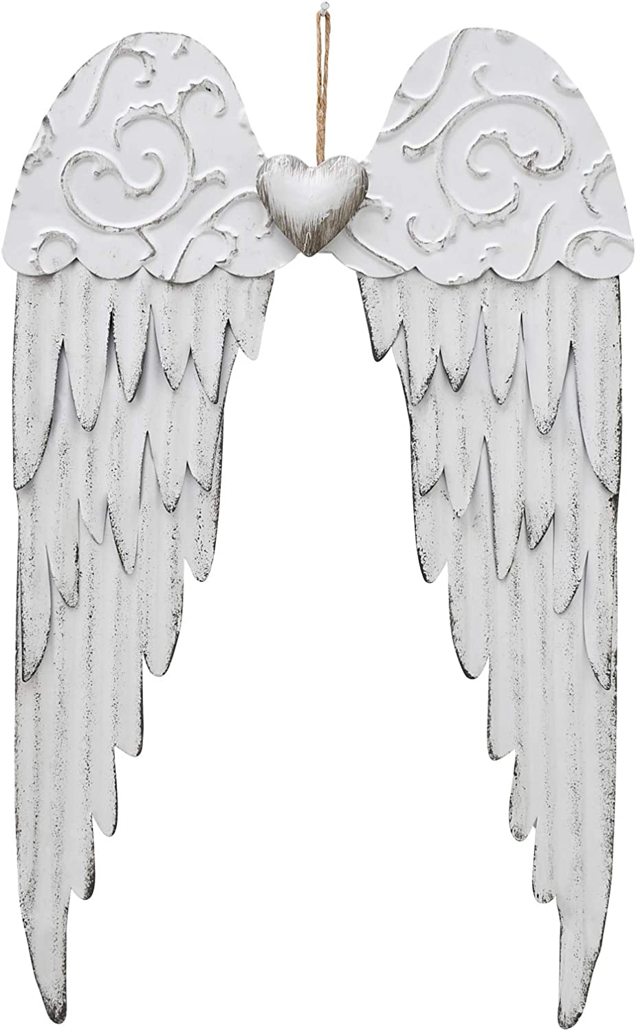 Metal Angel Wings Wall Decor Hanging Wall Art Sculpture, Heavenly Religious Hanging Wall Décor Rustic Angel Wings Art Wall Decor (1)
